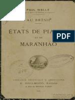 Paul Walle - États de Piauhy Et de Maranhão