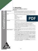 Sikafloor 1 Metal Top Endurecedor superfi cial de agregados metálicos.pdf