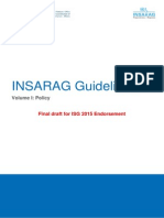 INSARAG Guidelines V1 - Policy