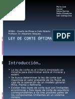 A. Vásquez, LEY DE CORTE OPTIMA.ppt