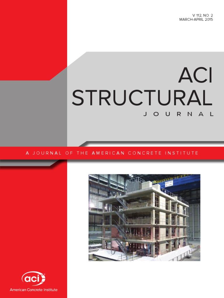 Aci structural journal mar apr 2015 v 112 no 02 strength of aci structural journal mar apr 2015 v 112 no 02 strength of materials deep foundation fandeluxe Images