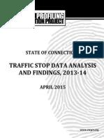 April 2015 Connecticut Racial Profiling Report