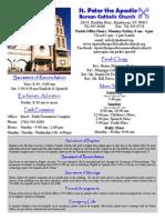 St. Peter the Apostle April 5, 2015 Bulletin