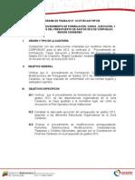 PROGRAMA DE TRABAJO N° 125 CARABOBO PRESUPUESTO 07-01-2013