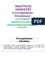Precipitation Titrations