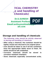 Storage and Handling of Chemicals