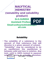 Solubility and Solubility Product