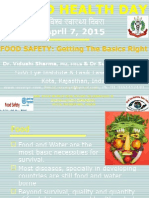 Food Safety:Getting the Basics Right