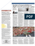Burden of Responsibility on Flight Crew for Passenger Safety - Gulf Times 2 April 2015