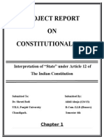 Constitution Law Project concept of state