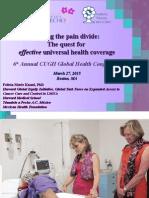Closing Global Pain Divide