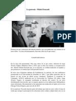 Foucault - La Parresía