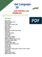 Ciencias Del Lenguaje-30-Sonidos Que Emiten Los Animales