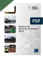relatrio acidentes ambientais 2013