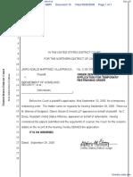Villafranca v. Department of Homeland Security et al - Document No. 15