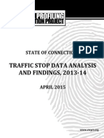 April 2015 Connecticut Racial Profiling Report