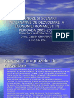 Prognoze Si Scenarii Alternative de Dezvoltare a Economiei