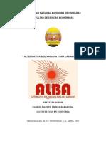 Ensayo Alianza Bolivariana para las Americas