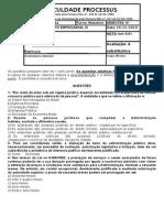Administrativo I - Avaliação Substitutiva