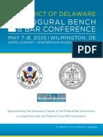 USDC-De Bench and Bar Agenda
