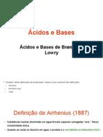 Ácidos e Bases de Bronsted-Lowry (Ácidos)