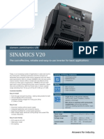 Sinamics V20 Folleto