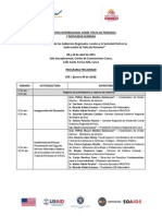 Programa Encuentro Interregional sobre Trata de Personas y Movilidad Humana