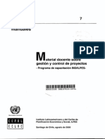Material Docente Sobre Gestión y Control de Proyectos