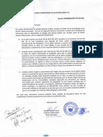 Carta de comunidad achuar Nueva Jerusalén a Pluspetrol