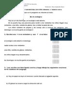 Guía de Lectura y Escritura Lección Girasol
