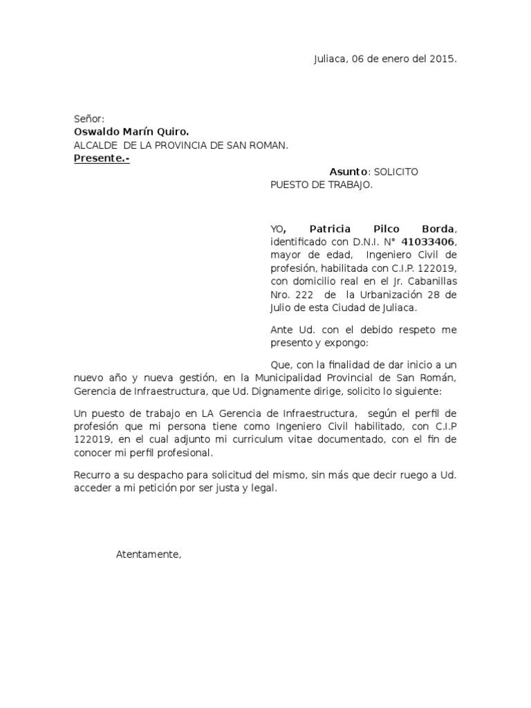 Excelente Plantilla De Solicitud De Trabajo Español Ilustración ...