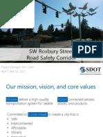 SDOT's SW Roxbury plan