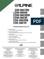 Cdm 9807rb Cdm 9805r Cdm 9803rm Cdm 9803r Cde 9802rb Cde 9801r