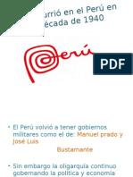Que Ocurrió en El Perú en La Década