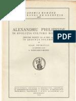 Alexandru Philippide Academia Romana - Discursuri de Receptie