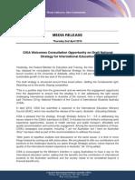 draft media release - international education strategy