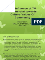 The Influence of TV Commercial towards Culture Values.pptx