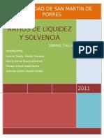 72722928 Los Ratios Financieros de Liquidez y Solvencia