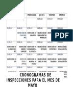 Cronograma de Inspecciones diarios