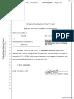 Steele et al v. United States of America - Document No. 11