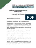 Plan de Movilizaciones Congreso Nacional