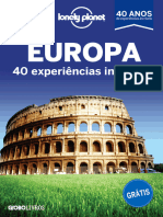 Lonely Planet - Europa - 40 Experiências Incríveis