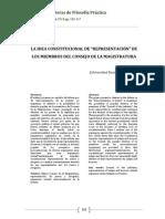 Iosa, La Idea Constitucional de Representacion de Los Miembros Del Consejo de La Magistratura