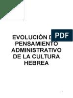 Evolución Del Pensamiento Administrativo de La Cultura Hebrea