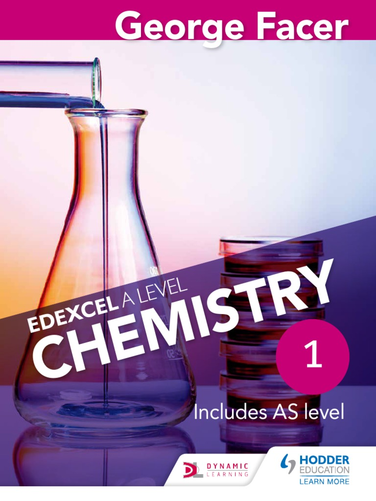 A Level Chemistry Edexcel Facer Sample Chemical Reactions Alcohol
