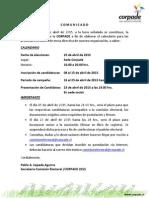 Elecciones CORPADE 2015-.