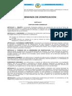 Zonificación Ordenanza Sobre -Septiembre 2009