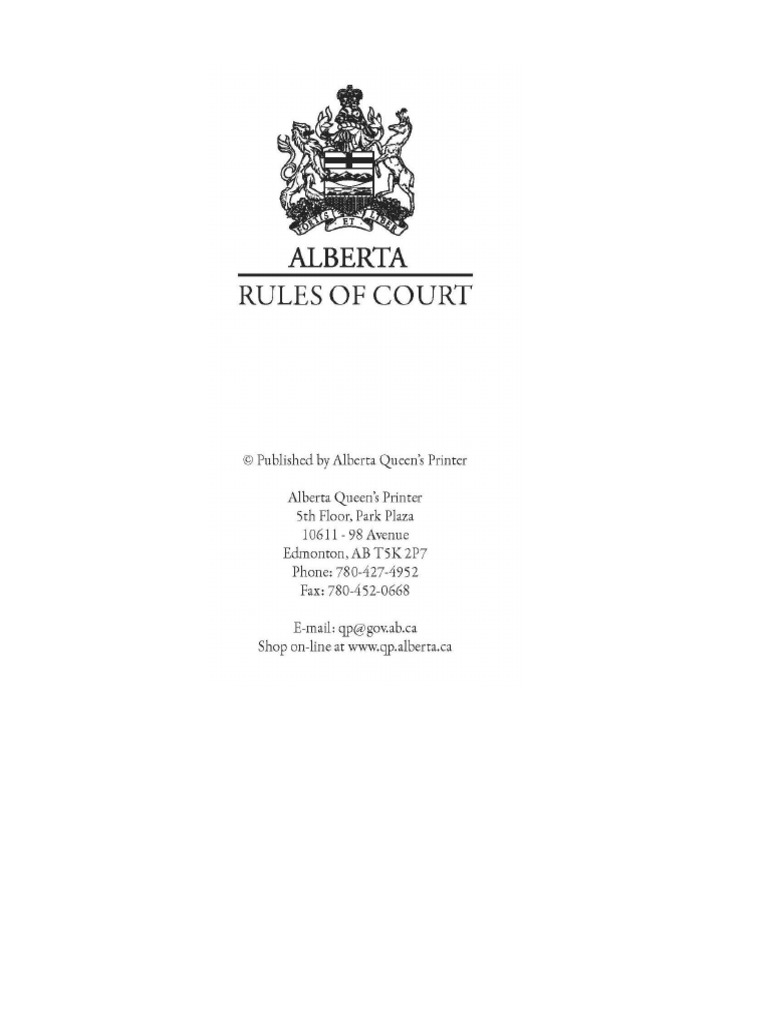 Alberta rules of court costs in english law lawsuit solutioingenieria Images