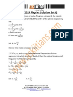 Solution Physics Set q 2014