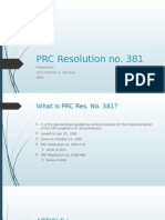 PRC Resolution No 381